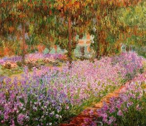 Claude Monet - iris in monets garten