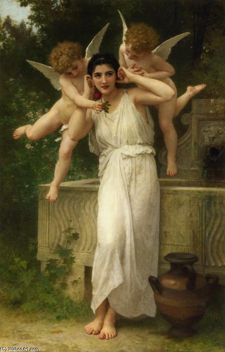 Jeunesse, öl auf leinwand von William Adolphe Bouguereau (1825-1905, France)