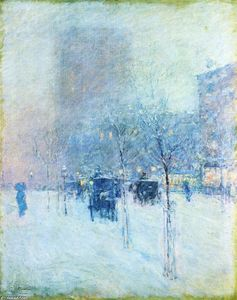 Frederick Childe Hassam - Late Afternoon, New York: Winter-