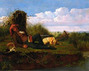 William Tylee Ranney - The Lazy Fisherman