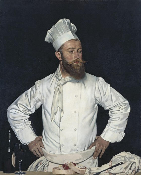Le Chef de l Hôtel Chatham, Paris, 1929 von William Newenham Montague Orpen (1878-1931, Ireland) | Museum Qualität Reproduktionen | WahooArt.com