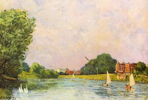 Alfred Sisley - Thames in Hampton Court