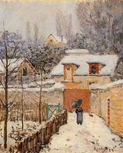 Alfred Sisley - schnee bei louveciennes
