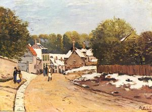 Alfred Sisley - erste schnee in louveciennes