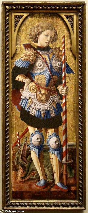 heiliger george, 1472 von Carlo Crivelli (1435-1495, Italy) | WahooArt.com