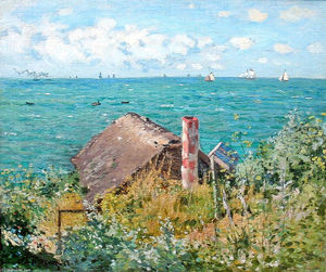 Claude Monet - The Cabin in Saint-Adresse