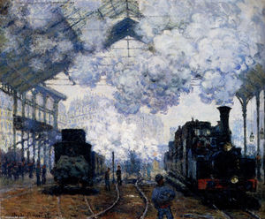 Claude Monet - Saint-Lazare Station, Exterior
