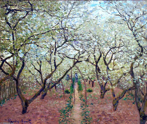 Claude Monet - Obstgarten in der Blüte