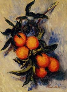 Claude Monet - zweig von orange `bearing` frucht