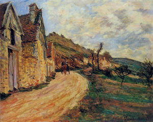 Claude Monet - steine bei `falaise` nahe giverny