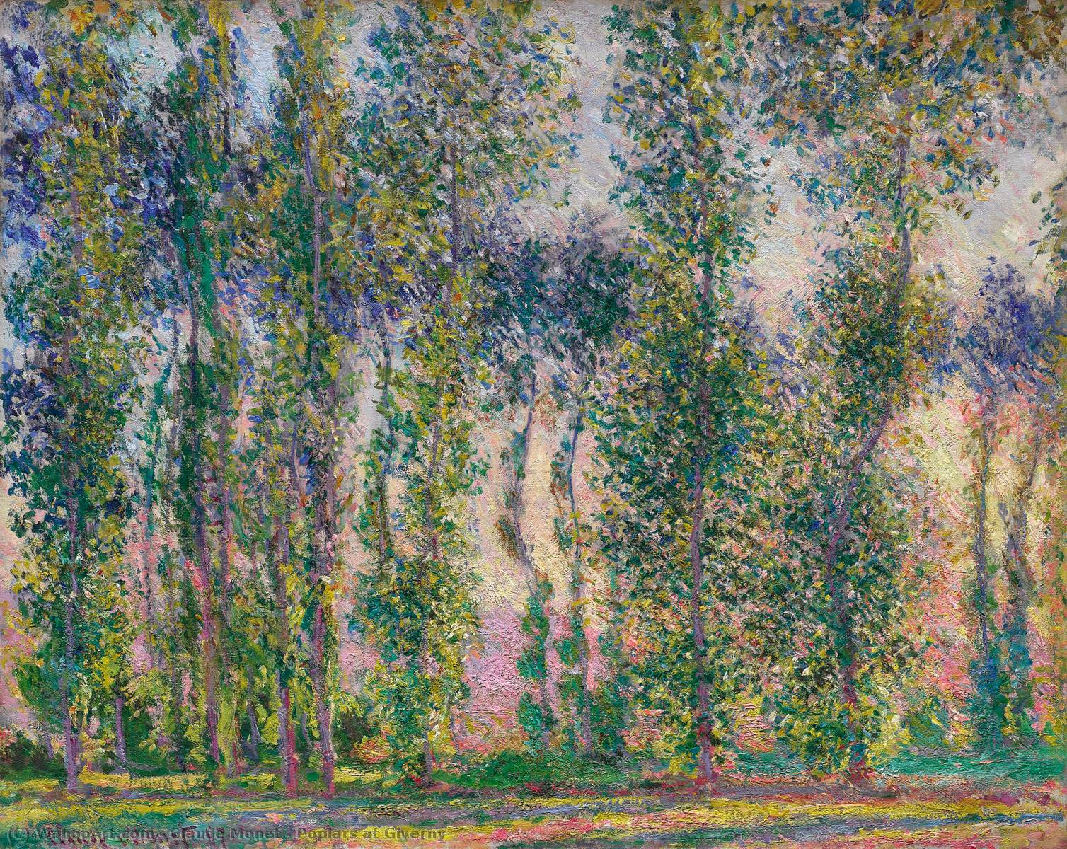 Pappeln bei Giverny, 1887 von Claude Monet (1840-1926, France) | WahooArt.com