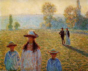 Claude Monet - landschaft bei giverny