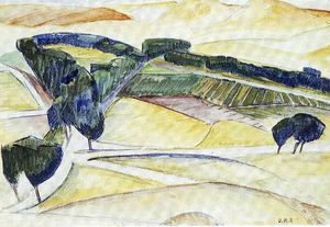 Diego Rivera - Landschaft in Toledo