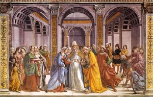 Domenico Ghirlandaio - heirat von mary