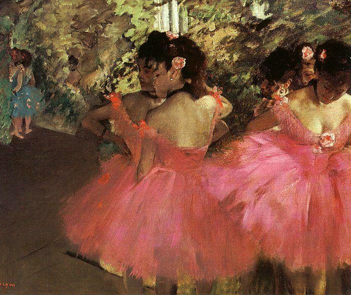tänzer in rosa, 1885 von Edgar Degas (1834-1917, France)