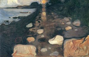 Edvard Munch - Moonlight auf der Shore