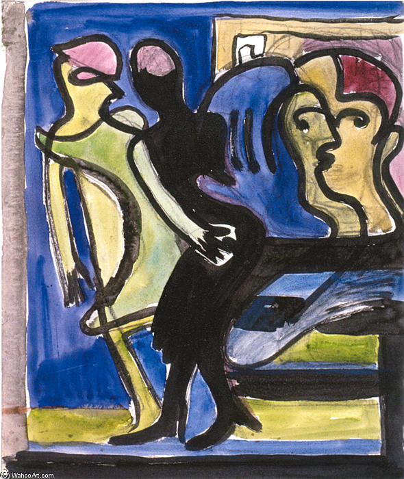 ansicht in a café, 1935 von Ernst Ludwig Kirchner (1880-1938, Germany) | WahooArt.com