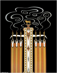 Erté (Romain De Tirtoff) - bei dem theater , Golden Kalb