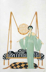 Erté (Romain De Tirtoff) - Pillow Swing-