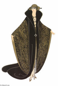 Erté (Romain De Tirtoff) - The Golden Cloak