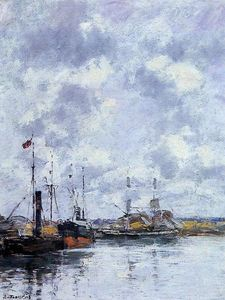 Eugène Louis Boudin - the trouville Becken