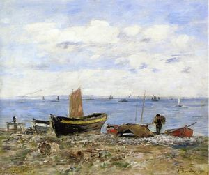 Eugène Louis Boudin - Shore at Sainte-Adresse, Ebbe