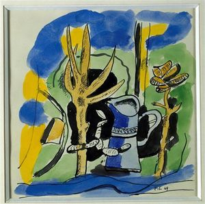 Fernand Leger - Komposition an Krug