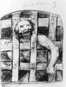 Francisco De Goya - Lunatic hinter Gittern