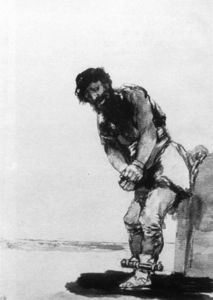 Francisco De Goya - Angekettet Prisoner