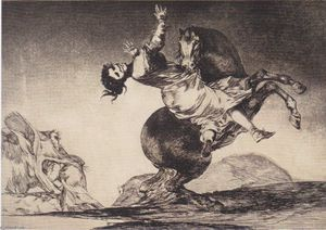 Francisco De Goya - Abducting Pferd
