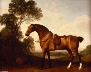George Stubbs - ein gesattelt bay hunter