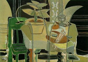 Georges Braque - Interior mit Palette