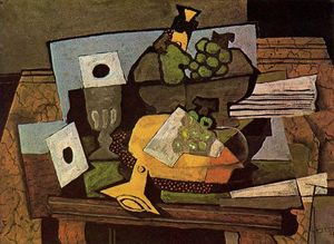 Georges Braque - stillleben mit Klarinette