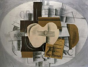 Georges Braque - Gitarre Program Statue d epouvante