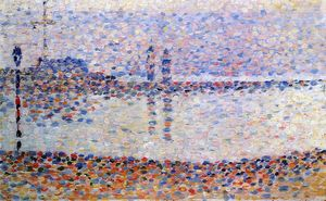 Georges Pierre Seurat - Studieren für 'The Kanal bei gravelines , Evening'