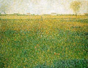 Georges Pierre Seurat - Alfalfa , Str . Denis induced
