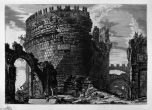 Giovanni Battista Piranesi - Grab von Cecilia Metella