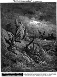 Paul Gustave Doré - Str . paulshipwrecked