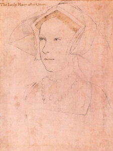 Hans Holbein The Younger - queen mary Ich Tudor