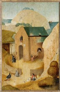Hieronymus Bosch - Str .  Jacques and the Magician Hermogenes