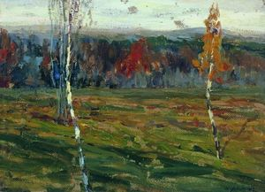 Isaak Ilyich Levitan - Autumn. Birken.