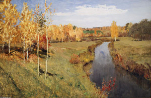 Isaak Ilyich Levitan - golden herbst