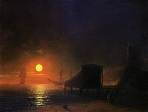 Ivan Aivazovsky - Moonlight in Feodossija