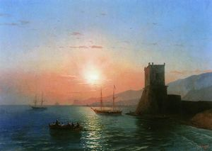 Ivan Aivazovsky - Sunset in Feodossija