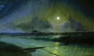 Ivan Aivazovsky - Moonrise in Feodossija