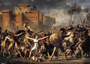 Jacques Louis David - Die Sabinerinnen