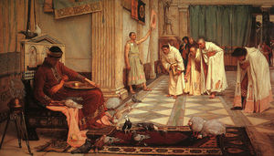 John William Waterhouse - Die Favoriten von Kaiser Honorius