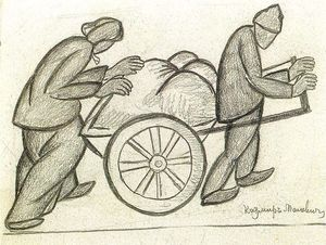 Kazimir Severinovich Malevich - Two and a pushcart