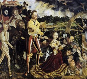 Lucas Cranach The Elder - das martyrium of Str . Catherine