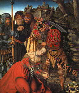 Lucas Cranach The Elder - das martyrium of Str . Barbara